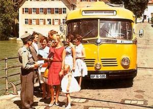 Postbus Berlin 2015 historischer Bus
