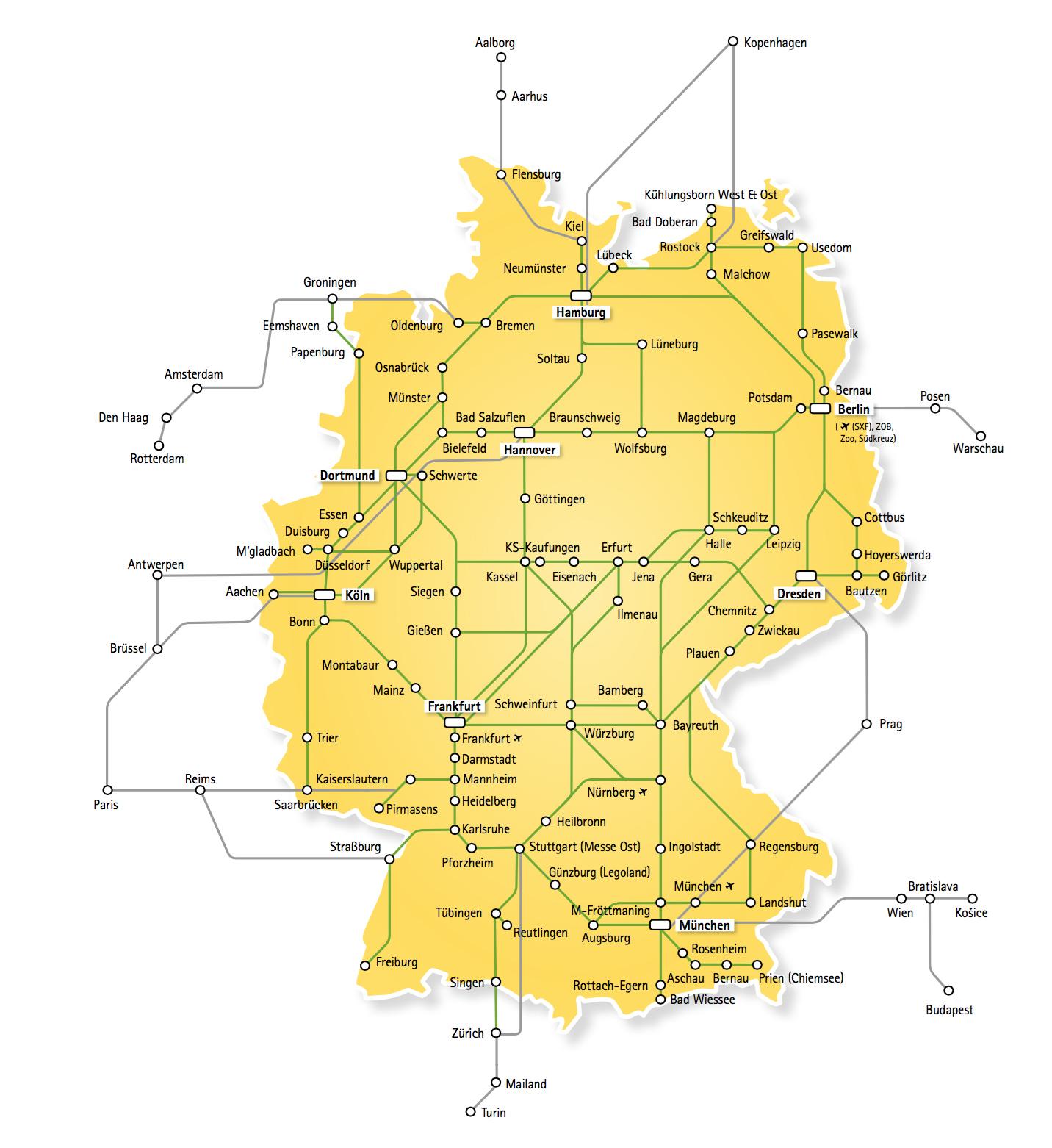 Postbus Streckennetz 2015